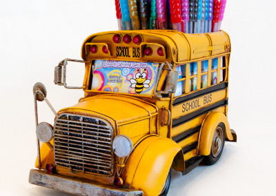 Seasonal Display - Yellow Bus