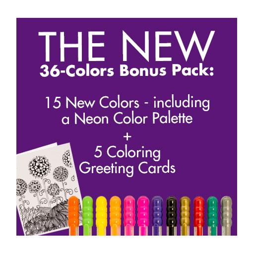 Gel Bee 36 colors Bonus Pack
